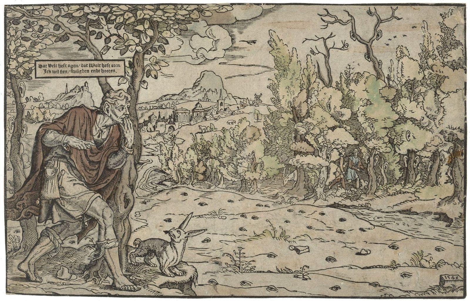 Niederländisch, Das Feld hat Augen, der Wald hat Ohren, 1546 © Staatliche Museen zu Berlin, Kupferstichkabinett / Jörg P. Anders