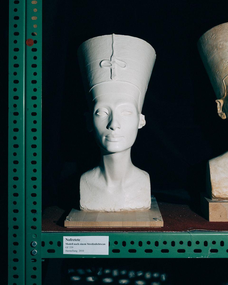 Nofretete nach 3D-Scan; © Staatliche Museen zu Berlin, Daniel Hofer