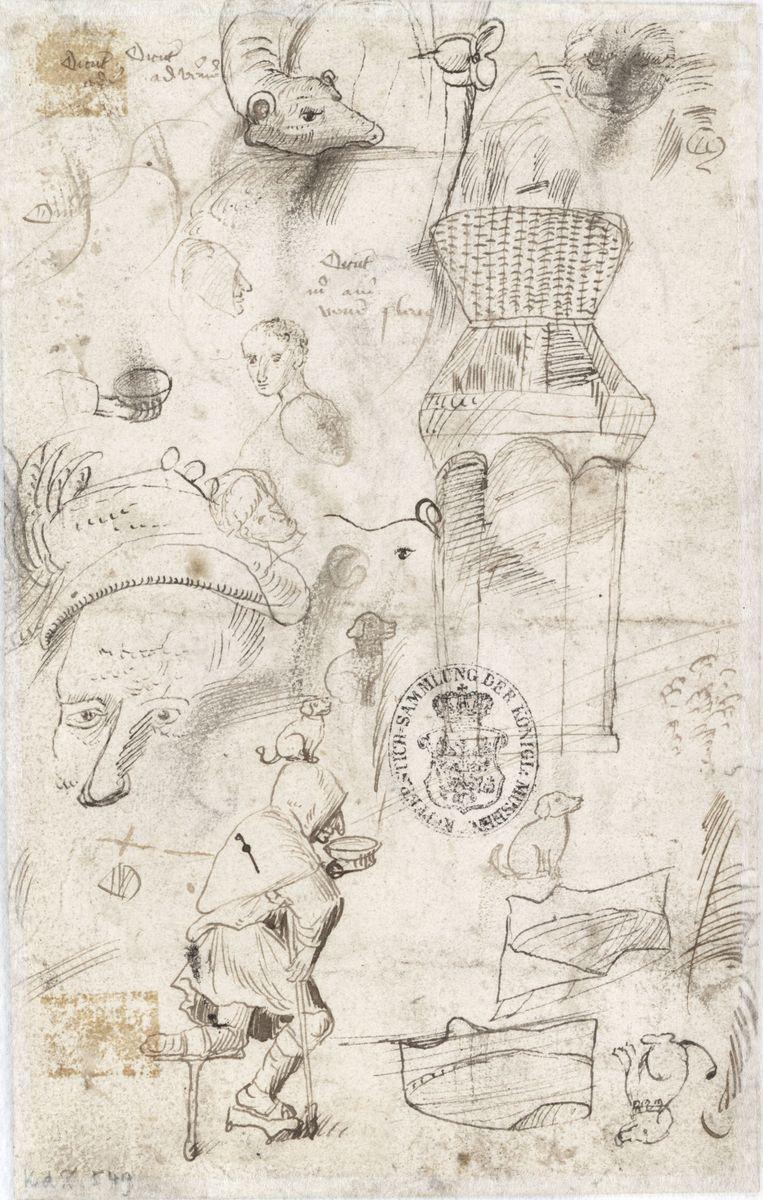 Hieronymus Bosch und Werkstatt, Das Feld hat Augen, der Wald hat Ohren (Rückseite), um 1500–05 © Staatliche Museen zu Berlin, Kupferstichkabinett / Jörg P. Anders
