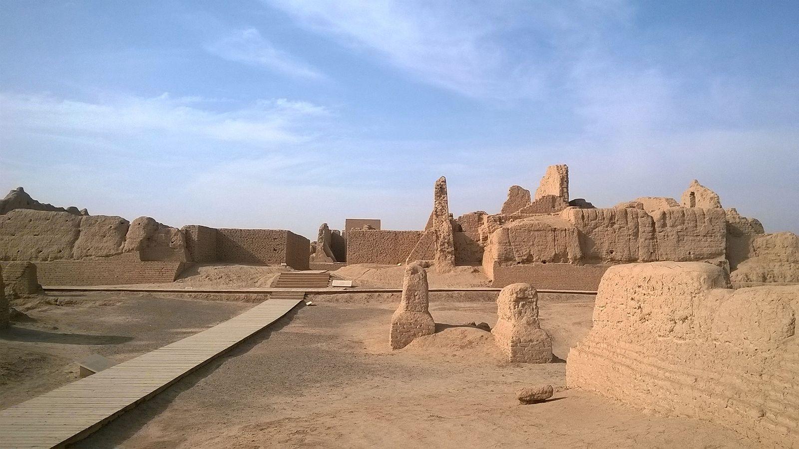 Kloster Beta in der Ruinenstadt Kočo Xinjiang, China im Jahr 2015, Foto: Lilla Russell-Smith