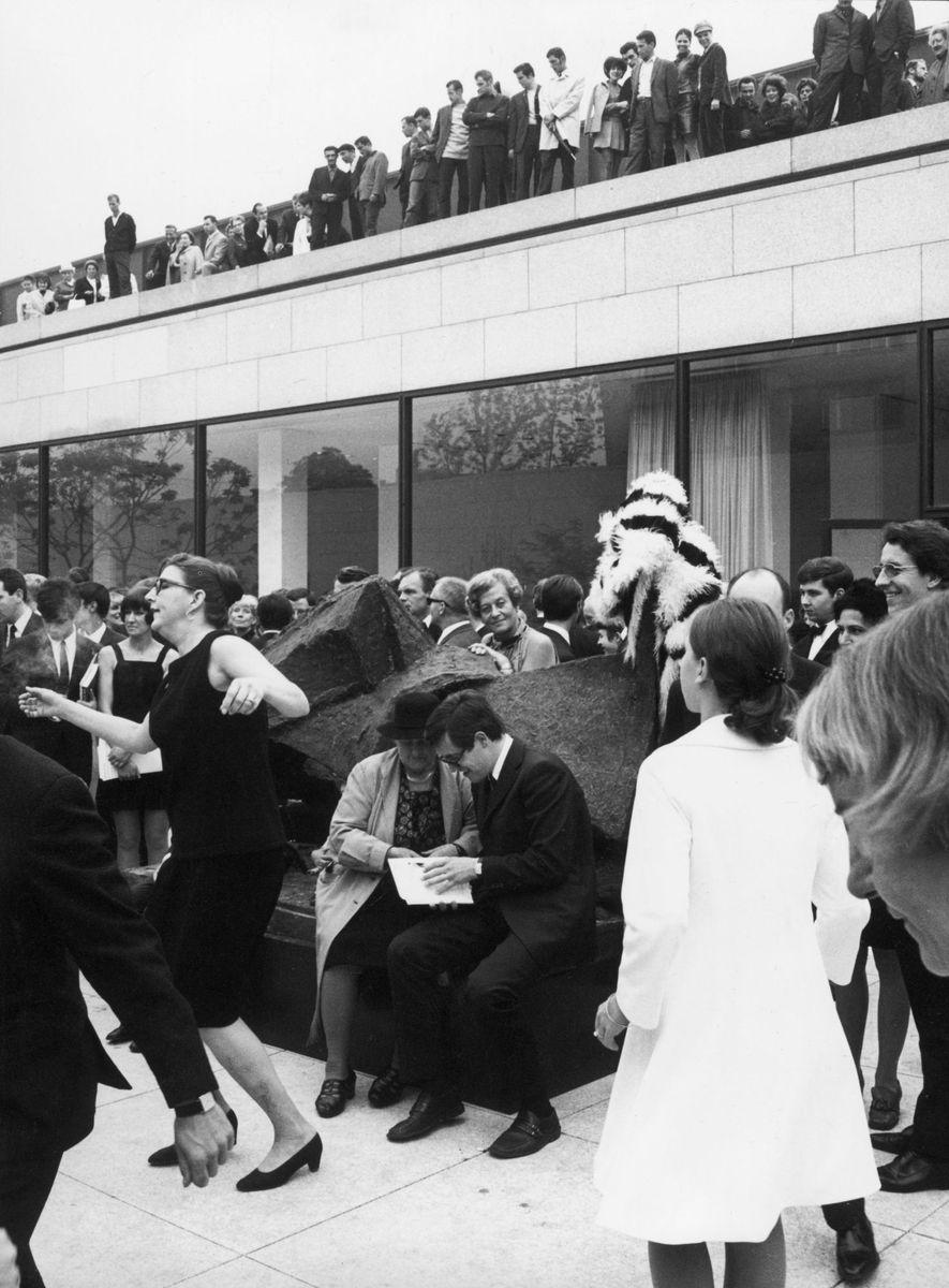 Eröffnungsfeier der Neuen Nationalgalerie am 15.09.1968 Fotomappe Reinhard Friedrich, Neue Nationalgalerie © Staatliche Museen zu Berlin, Zentralarchiv, Reinhard Friedrich