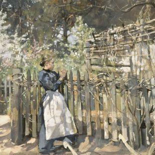 Ludwig Julius Christian Dettmann: Frühling im Grunewald, 1892 © bpk / Kupferstichkabinett, SMB / Volker-H. Schneider
