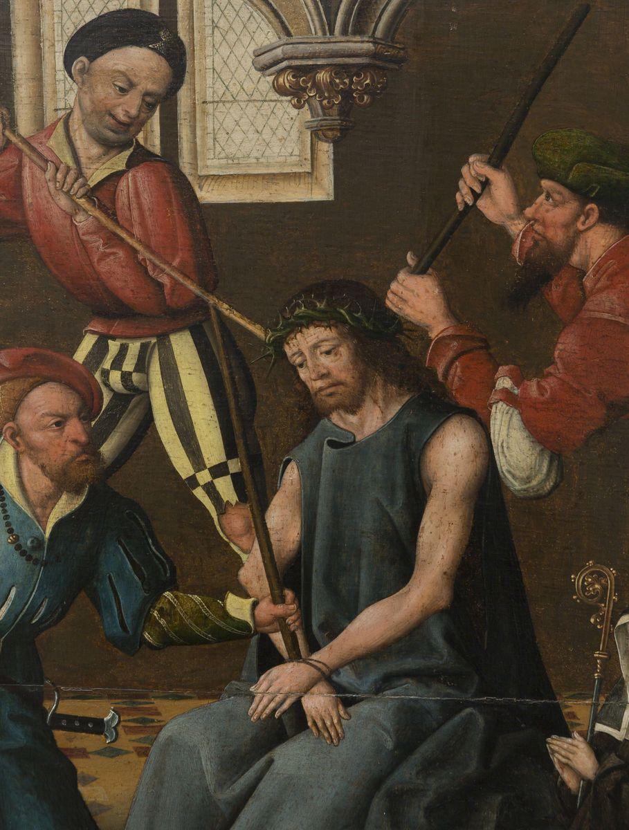 Jan Baegert (sog. Meister von Cappenberg):  Die Geißelung und Dornenkrönung Christi. © Foto: David von Becker