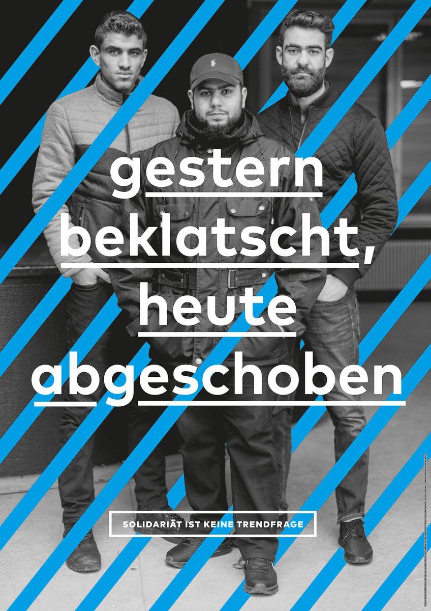"""Pierre Maite (Berlin): """"Beyond Welcome"""" © 100 Beste Plakate e. V."""