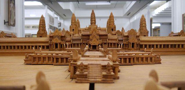 Das Holzmodell von Angkor Wat. Foto: Staatliche Museen zu Berlin