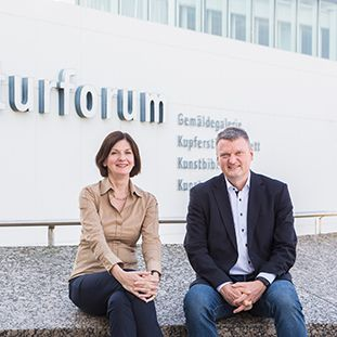 Dr. Sabine Thümmler, Direktorin des Kunstgewerbemuseums Berlin und Dr. Joachim Brand, Kommissarischer Direktor der Kunstbibliothek. © Foto: David von Becker