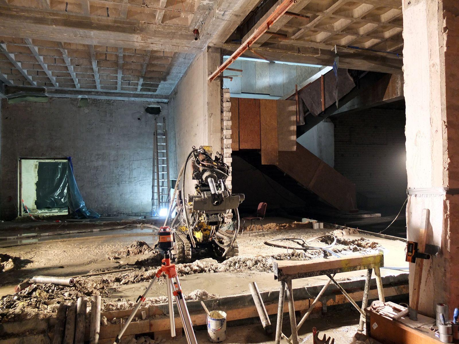 Für einen barrierefreien Zugang zum Untergeschoss werden Vorbereitungsmaßnahmen für den Einbau des Aufzugs getroffen. © Staatliche Museen zu Berlin / schmedding.vonmarlin.