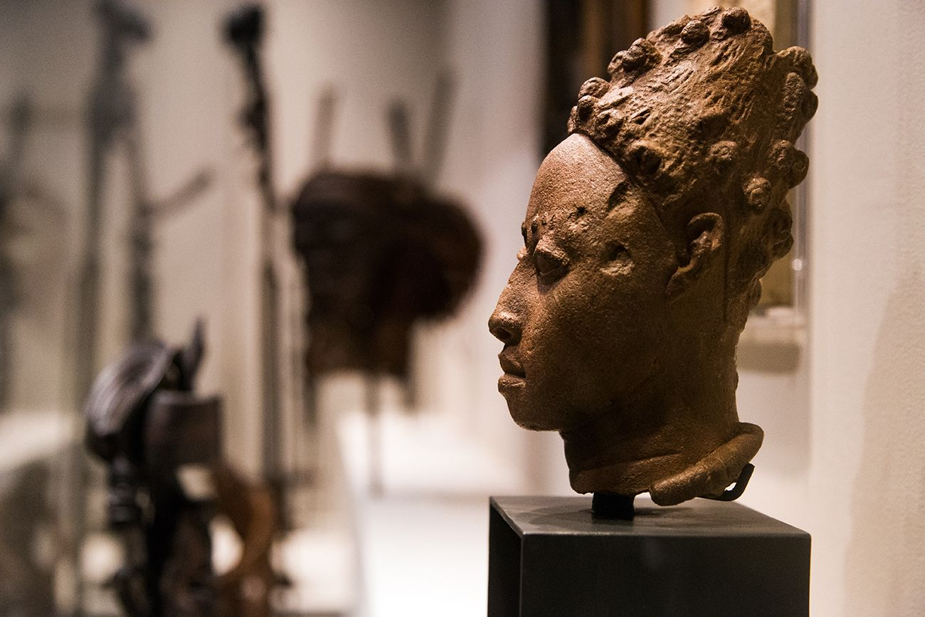Gedenkkopf eines Königs oder Würdenträgers, Ile-Ife (Nigeria), 12.-15. Jh.