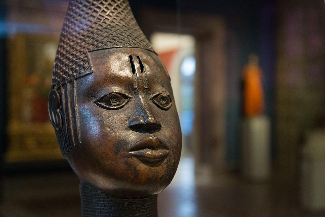 Unvergleichlich: Kunst aus Afrika im Bode-Museum. Gedenkkopf einer Königinmutter (iyoba), Königreich Benin (Nigeria), 16. Jh.