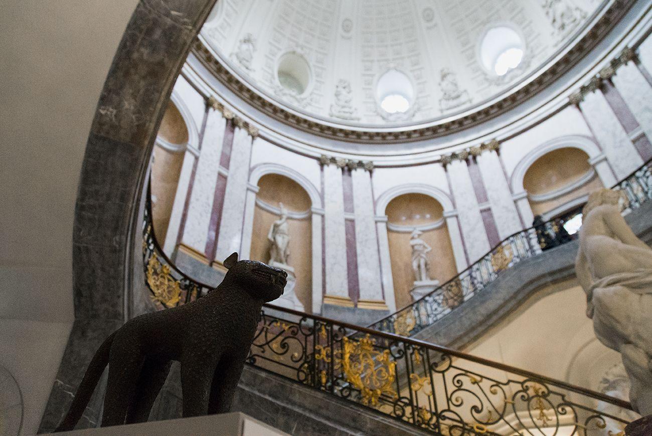 Unvergleichlich: Kunst aus Afrika im Bode-Museum. Leoparden-Aquamanile, Königreich Benin (Nigeria), 17. Jh.