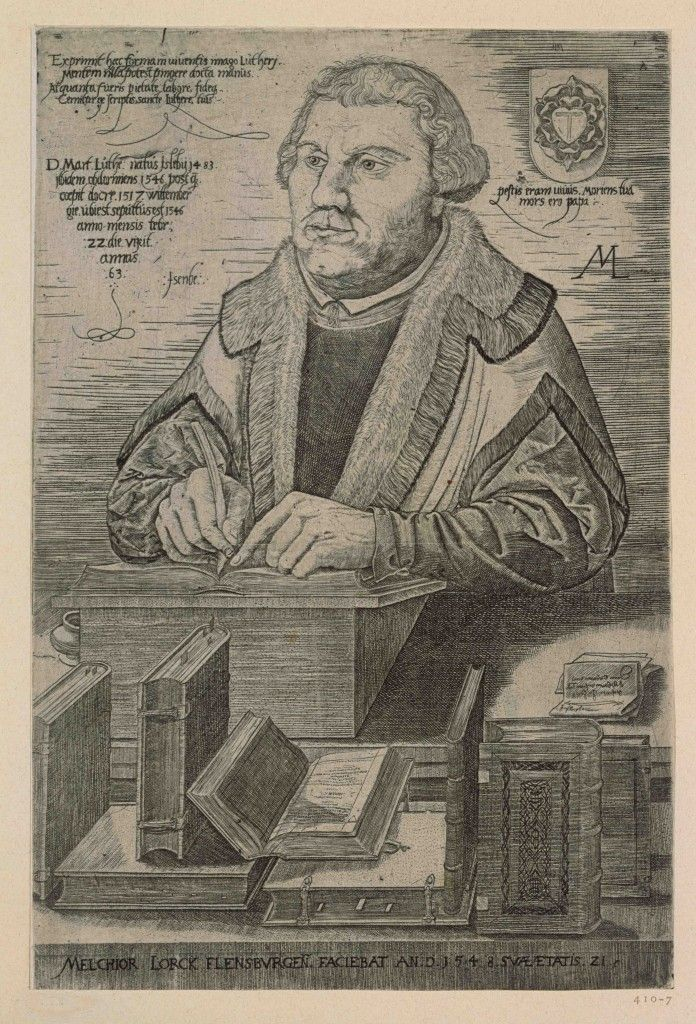 Melchior Lorichs: Porträt des Martin Luther, 1548, Kupferstich © Staatliche Museen zu Berlin, Kupferstichkabinett