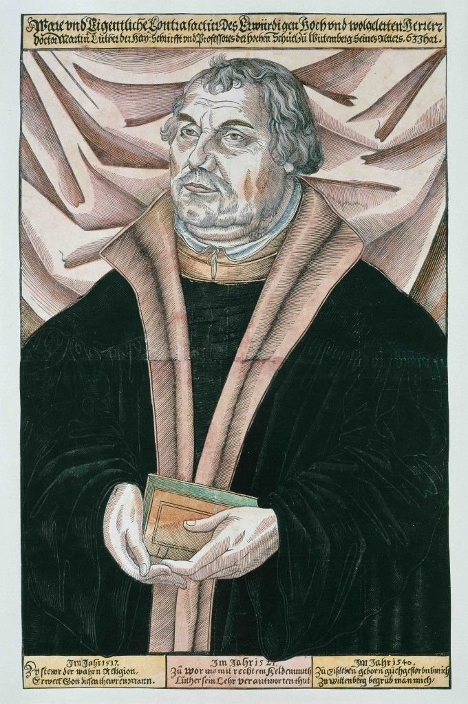Unbekannt: Porträt des Martin Luther, um 1546, Holzschnitt © Staatliche Museen zu Berlin, Kupferstichkabinett / Jörg P. Anders