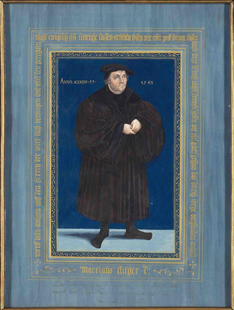 Karl Friedrich Schinkel: Bildnis Martin Luthers, 1816, Gouache auf Papier © Staatliche Museen zu Berlin, Kupferstichkabinett / Volker-H. Schneider
