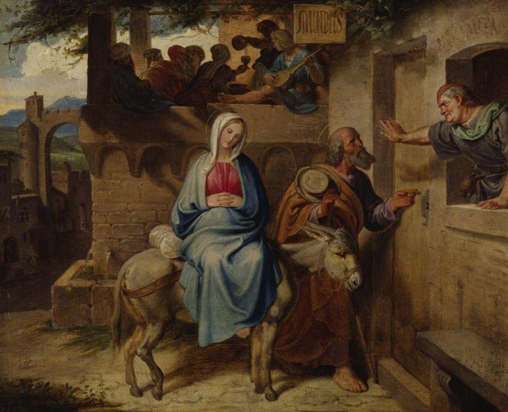 Joseph von Führich: Ankunft der Heiligen Familie vor der Herberge in Bethlehem, 1838 © Staatliche Museen zu Berlin, Alte Nationalgalerie / Klaus Göken