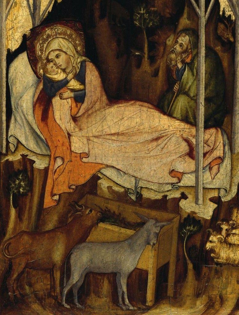 Österreichisch-böhmische Schule: Die Geburt Christi, um 1350 © Staatliche Museen zu Berlin, Gemäldegalerie / Jörg P. Anders