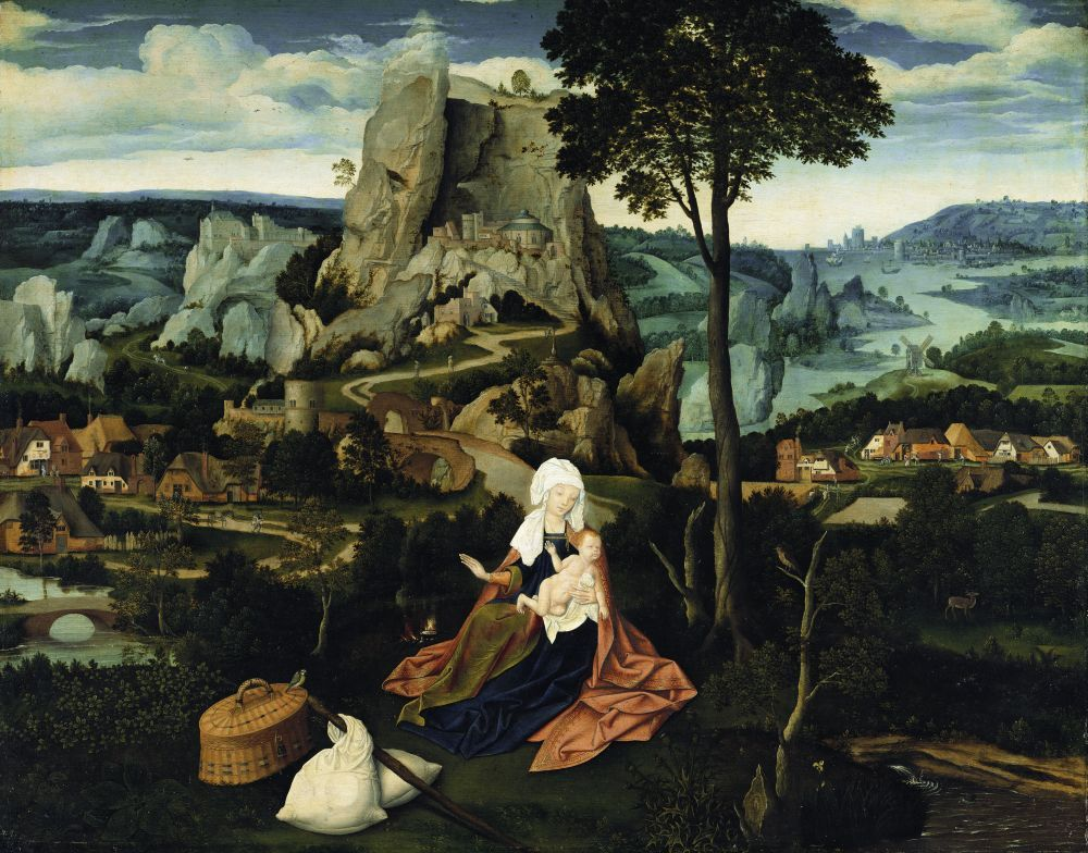 Joachim Patinier: Die Ruhe auf der Flucht nach Ägypten, um 1520 © Staatliche Museen zu Berlin, Gemäldegalerie / Jörg P. Anders