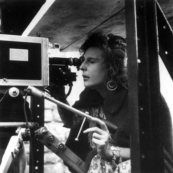 Leni Riefenstahl bei Dreharbeiten zu