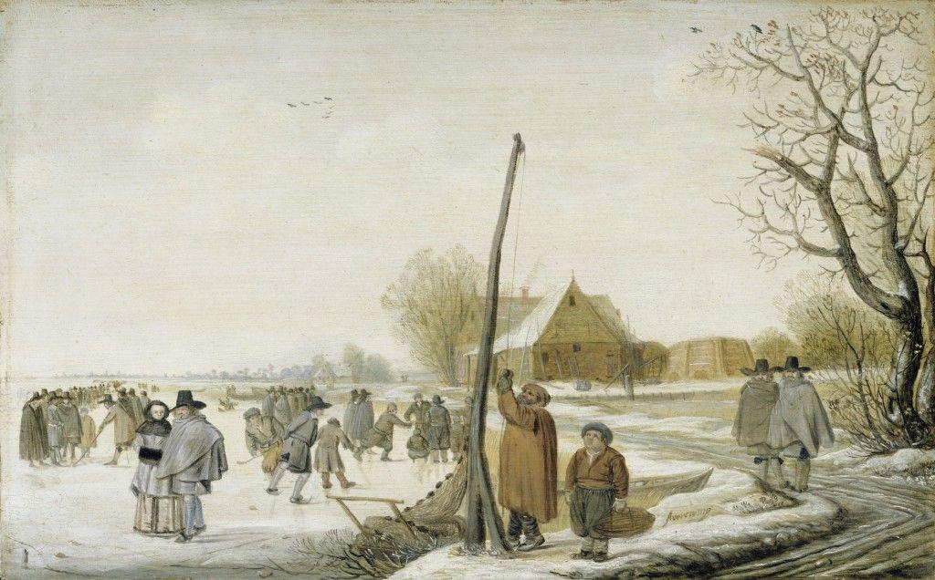 Barent Avercamp: Winterlandschaft mit zugefrorenem Fluss (17. Jh.); © Staatliche Museen zu Berlin, Gemäldegalerie / Jörg P. Anders
