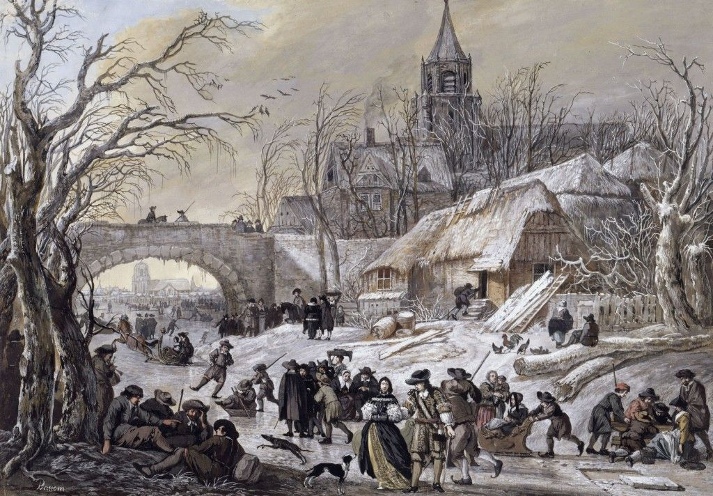 Gerrit Battem:  Winter: Vergnügen auf dem Eise (24.10.1684); © Staatliche Museen zu Berlin, Kupferstichkabinett/ Jörg P. Anders