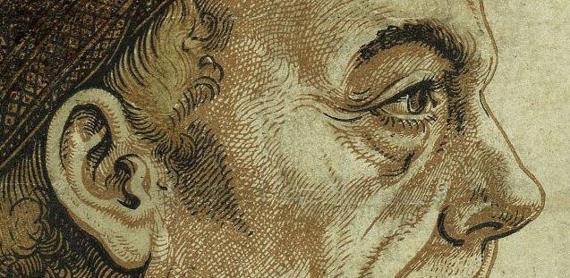 Hans Burgkmair und Jost de Negker: Profilbild von Jacob Fugger, Holzschnitt, gedruckt von zwei Platten (Schwarz, Hellbraun), von Hand koloriert (vermutlich 1512) © Staatliche Museen zu Berlin, Kupferstichkabinett