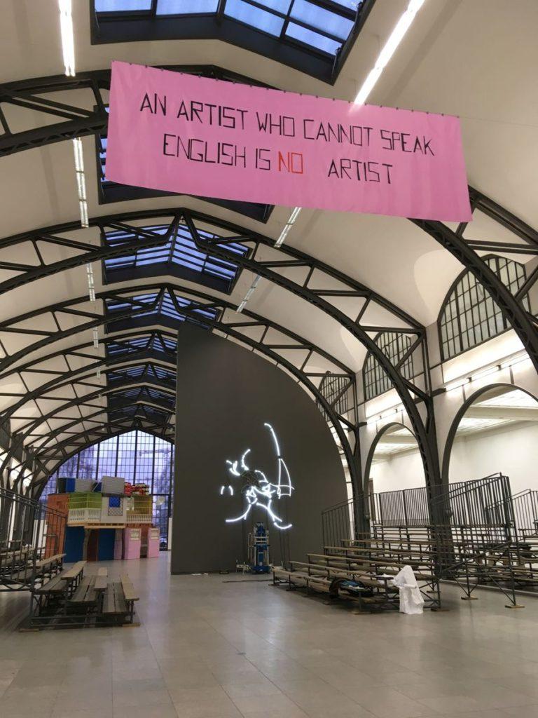 """Ausstellungsaufbau """"Hello World. Revision einer Ausstellung"""" im Hamburger Bahnhof – Museum für Gegenwart – Berin, 2018 © Staatliche Museen zu Berlin, Nationalgalerie"""