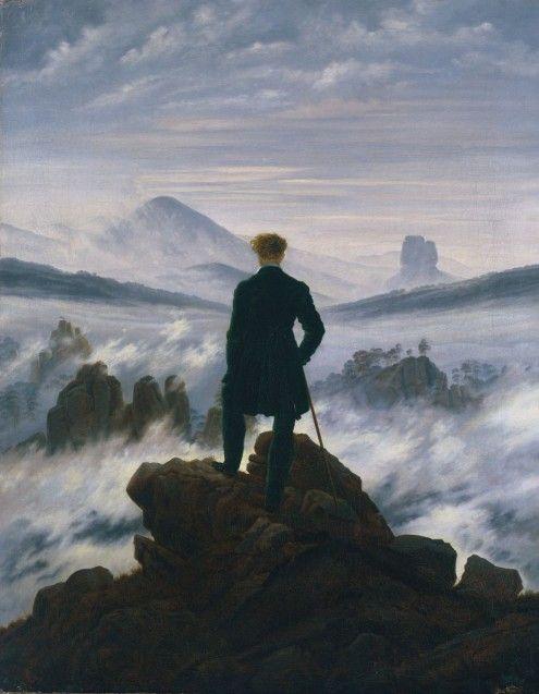 Caspar David FriedrichWanderer über dem Nebelmeer, um 1817Öl auf Leinwand, 94,8 x 74,8 cmHamburger Kunsthalle© SHK / Hamburger Kunsthalle / bpk / Elke Walford
