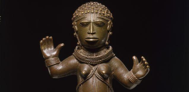 Weibliche Figur, Königreich Benin, 17. oder 18. Jh., Messing, Staatliche Museen zu Berlin, Ethnologisches Museum, © SMB, Ethnologisches Museum, Martin Franken