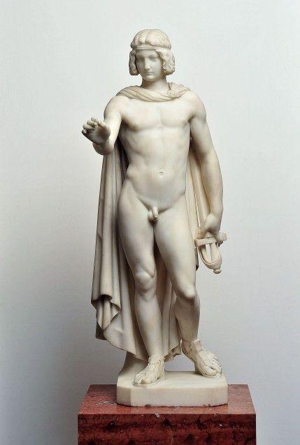 Carl Heinrich Gramzow, Genius des Friedens, 1848, Marmor, Inv. Nr. B I 10, Alte Nationalgalerie © Nationalgalerie der Staatlichen Museen zu Berlin / Andres Kilger
