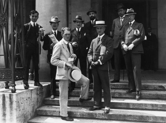Willy Römer: Weimarer Nationalversammlung. Ausländische Journalisten als Berichterstatter, August 1919  © Staatliche Museen zu Berlin, Kunstbibliothek, Photothek Willy Römer / Willy Römer