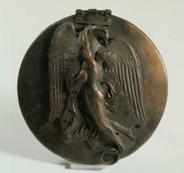 Klappspiegel: Zeus entführt Ganymed. Mitte 4. Jahrhundert v.Chr. © Staatliche Museen zu Berlin, Antikensammlung / Jürgen Liepe