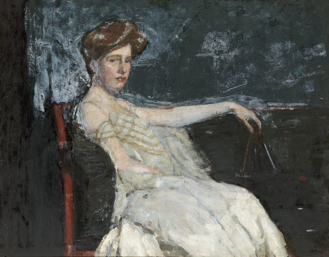 Fritz Rhein: Dame auf dem Sofa, ca. 1905 © Staatliche Museen zu Berlin, Alte Nationalgalerie / Andres Kilger