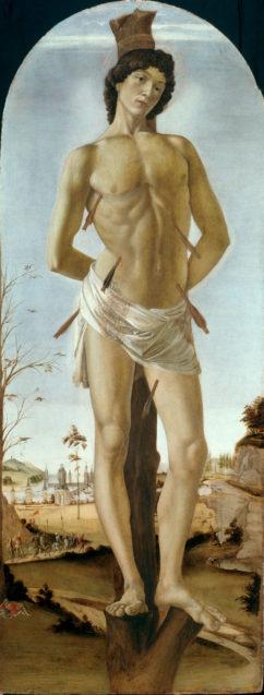 Sandro Botticelli, Der Hl. Sebastian. 1474. © Staatliche Museen zu Berlin, Gemäldegalerie / Jörg P. Anders