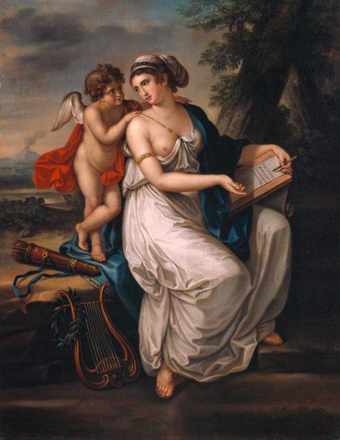 Johann August Nahl d.J., Sappho und Amor. Um 1800. © Staatliche Museen zu Berlin, Nationalgalerie / Andres Kilger